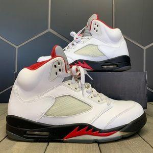 2013 Air Jordan 5 Retro Fire Red Shoes Size 10.5